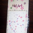 ProArt 3d  Finger Toe Nail Art Stickers Purple White Pink Butterflies Flowers with Rhinestones
