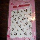 31 Snow Fox 3d Designer Finger Toe Nail Art Stickers Black White Butterfly Flower Yellow Rhinestone