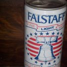 Falstaff Fine Light Beer Liberty Bell Pull Tab Bottom Opened Aluminum 1 Faced Beer Can 6 Cities