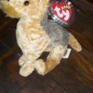 2000 Baby Whiskers the Dog Ty Beanie Baby with Tag Protector MWMT Retired