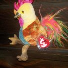 2000 Zodiac Rooster Ty Beanie Baby with Tag Protector MWMT Retired