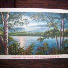 Greetings from Mouth of Elk Creek No Girard Pa Pennsylvania Night View Vintage Unused Linen Postcard