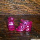 Barbie  Size Clear PINK Open TOE HIGH Heel Sandal Shoes