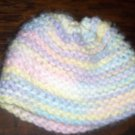 Variegated Hand Knit Baby Infant Preemie Newborn Baby Cradle Cap Bonnet