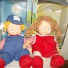 Rare Vintage Madison Ltd The Rag Mop Kids Boy and Girl Dolls