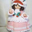 Vintage 1980s Crochet Strawberry Shortcake Angel Doll