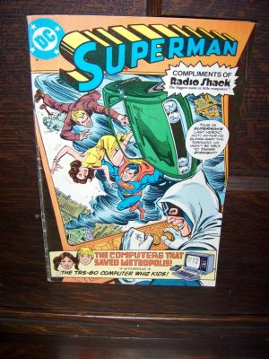 Radio Shack Complimentary Superman Computers Saved Metropolis July 1980 DC Comic