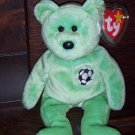Kicks The Soccer Bear 1999 Ty Beanie Baby mwmt Retired