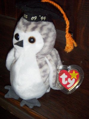 Wiser 1999 The Graduation Owl Ty Beanie Baby Tag Protector mwmt Ret 5th 8th Gen