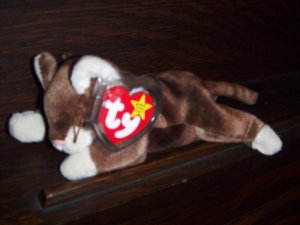 Pounce Brown Cat 1997 Ty Beanie Baby Collection Tag Protector mwmt Birth Aug 28 1997