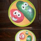 2000 Big Idea Productions Veggie Tales Childrens Plate Bowl Dining Set