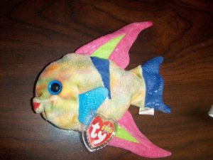 2000 Aruba the Neon Fish Ty Beanie Babies mwmt tag protector 6th/9th Generation Retired