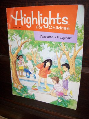 Highlights for Children July 1997 Fun with Purpose Volume 52 Issue 549 Educational Magazine