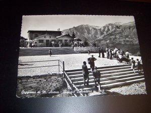 Vintage Italian Veneta Chairlift of M Oat Lookout Shelter Seggiovia di M. Avena Photo Postcard