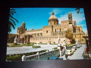 Vintage 1977 Italian Cathedral Palermo Kodak Chrome Postcard 200 Lire Green Italy Stamp