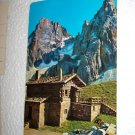 Vintage 1977 Dolomiti Baita Segantini Italy Chrome International Postcard