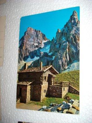 Vintage 1977 Dolomiti Baita Segantini Italy Chrome International Postcard