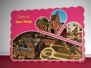 Vintage Sculpted Greeting Den Haag Holland International Postcard
