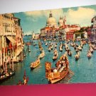 Vintage Venezia Grand Canal and Regatta Boats Italy International Postcard