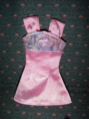 Barbie Fashion Pink Iridescent Mini Dress