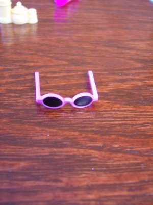 Barbie Size Pink Sun Glasses with Black Lens Mini Accessory