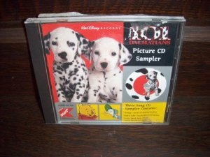 1997 Walt Disney's 101 Dalmations Picture CD 3 Song Music Sampler