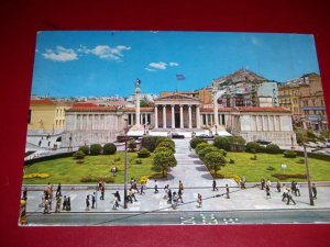 Vintage The Academy Athens Greece International Postcard