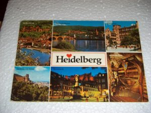 Vintage Heidelberg Farbaufnahme Germany Chrome Postcard Unused International