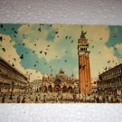 Vintage Venezia Plaza St Marco Flight pigeons Italian Postcard Italy International unused