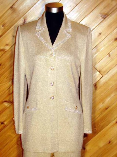 St John Evening 2pc Jacket Pant Paillettes Outfit 6