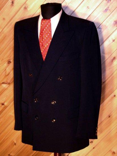 Gucci Mens Classic Navy Wool DB Blazer Sportcoat 36R