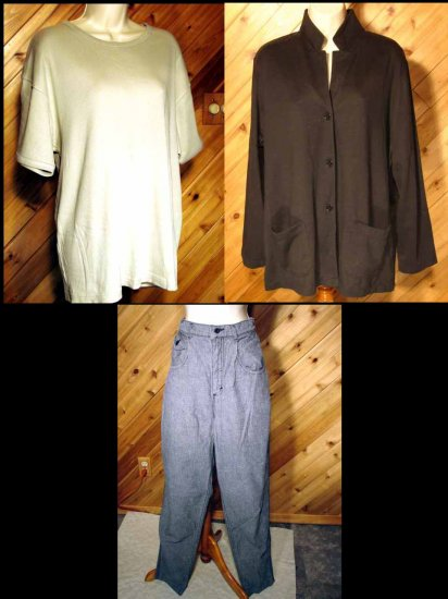 Lot Womens Lee Jeans Lands End SL Sonoma Tops SS 12 XL