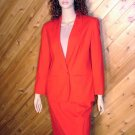 Pendleton Red Blazer Skirt Wool Suit 12