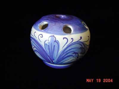 Made in Italy Artsy Blue/White Toothbrush Holder