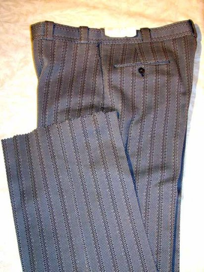 Retro Silver Gulf Stream Self Sizer Pants 34 NWT