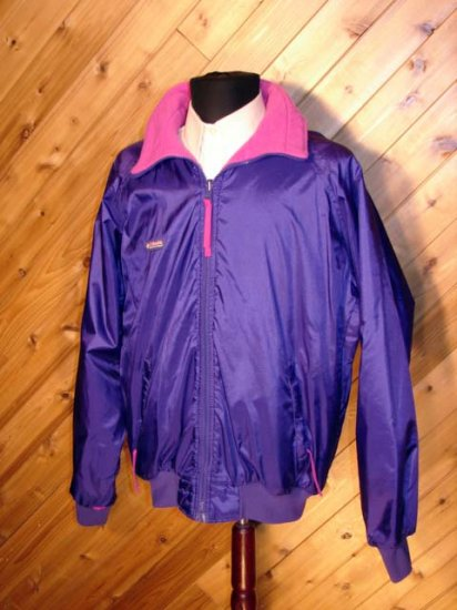 Columbia Mens Purple/Pink Fleece Outerwear Jacket L