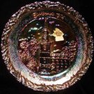 Fenton Carnival Glass Xmas 1974 Nation's Church Plate