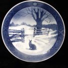 Royal Copenhagen Denmark 1971 Xmas Plate Hare in Winter