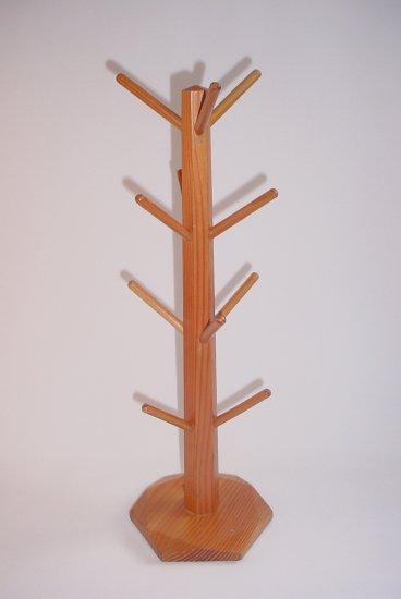 Wooden Mug Tree 12 pegs