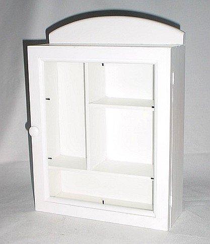 Wooden Medicine  Cabinet Small Size White