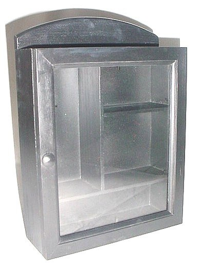 Wooden Medicine  Cabinet Small Size Black