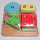 Wooden Basic Shapes Stackable Toy