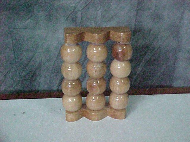 Foot Massager w/ 12 ball roller design Natural