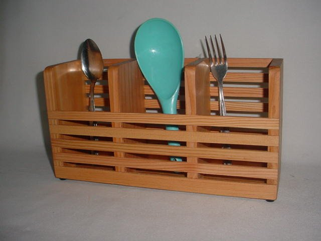 3 Rack Utensil Holder Fence Design Natural