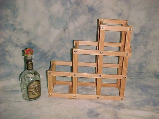 Wooden Foldable Wine Rack / 6 Racks