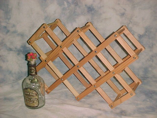 Wooden Foldable Wine Rack 5 Racks