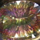 22 ct Oval Green Rainbow Mystic Fire Topaz  Value: $2200