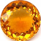 RARE 20.09 CT AAA! ROUND IMPERIAL ORANGE BRAZIL CITRINE