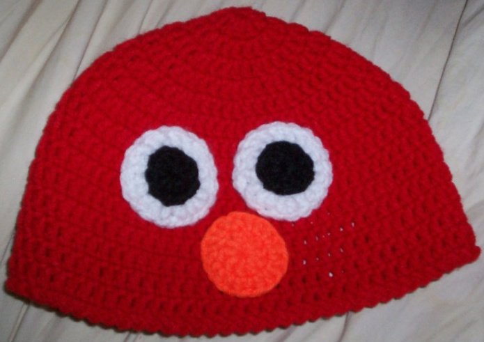 Free Crochet Patterns For Elmo Hat : Crocheted Elmo Hats