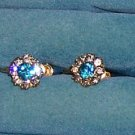 Dabro Gold Filled Rhinestone Earrings  Screwback